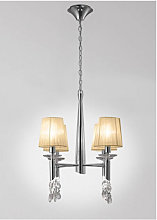 Diyas - Suspension Tiffany 4+4 Ampoules E14+G9,