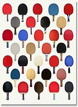 djnukd Minimaliste Coloré Tennis De Table