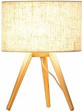 DJSMtd Lampe de bureau en bois massif avec