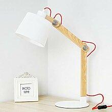 DKEE Lampes de Table Creative Bois Lampe Chambre