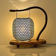 DKEE Lampes de Table Lampe De Table en Bambou,