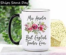 DKISEE Tasse à café et thé pour professeur