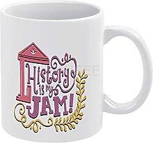DKISEE Tasse à café ou à thé avec inscription