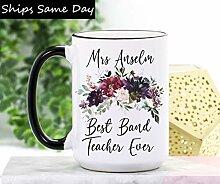 DKISEE Tasse à café ou thé pour enseignant -