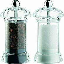 DMD Moulin à sel et à Poivre Mini Transparen