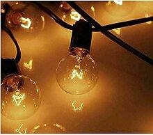 DOBO Guirlande ampoules G40 25 pièces chaîne