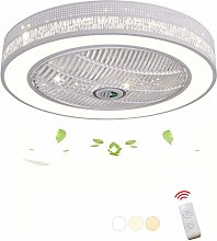DOCJX LED Ventilateur De Plafond Créatif Moderne