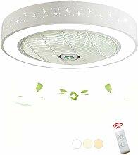 DOCJX Ventilateur moderne LED Plafonnier