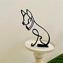 Dog Art Sculpture,Dog Abstract Line Minimalist