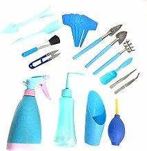 Doinh Lot de 19 mini outils de jardinage et 19