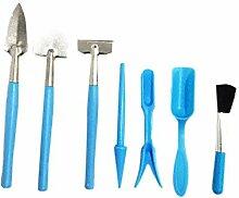 Doinh Lot de 7 mini outils de jardinage pour