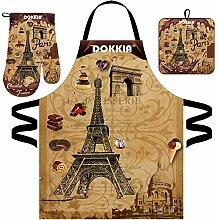 DOKKIA Ensemble tablier de cuisine pour femme avec