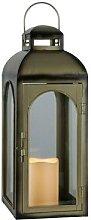 DOME-Lanterne LED Métal et Verre à piles H43cm