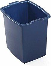 Domplex Poubelle rectangulaire en Plastique Bleu