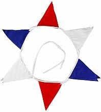 DOMYBEST 12 Drapeaux Blanc Drapeau Bleu Rouge