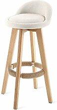 DONDOW Tabouret de bar en bois - Chaise rotative