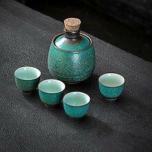 DONGYAO Service à saké japonais en céramique