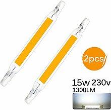 Donpow R7S Lot de 2 ampoules LED 15 W de 118 mm