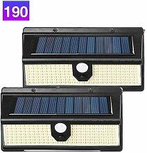 Dontodent - 190 LED Lampe Solaire Extérieur,