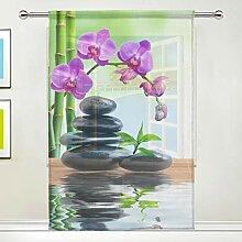 DOSHINE Rideau transparent à motif floral