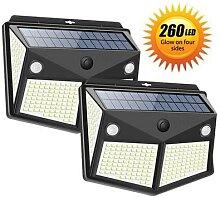 Double capteur de mouvement à énergie solaire,