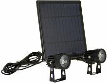 Double Projecteur LED Solaire, 350 Lumens,