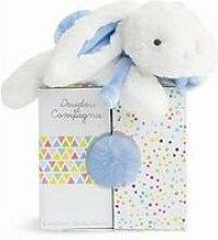 Doudou et compagnie-coucou doudou - lapin bleu