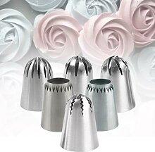 Douilles de glaçage à grande fleur de Rose, Tube
