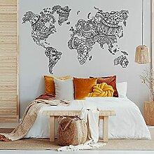 DOUMAISHOP Mandala Grande Carte du Monde Maison
