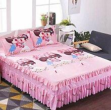 Doux Jupe de lit (non inclure taie d'oreiller)