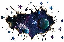 DQGZYF Cosmic Starry Sky 3D Stickers Muraux