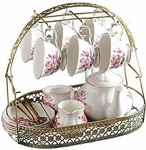 DQM Tasse à thé de Fleur de ménage, Services à