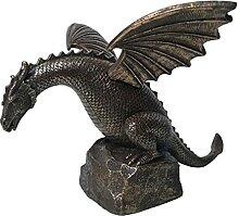 Dragon fontaine cascade table ornement résine