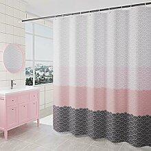 Drap de bain géométrique, brise-bise de douche,