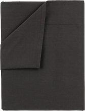 Drap de dessus, 100% coton. 170x270cm , Noir . Lit