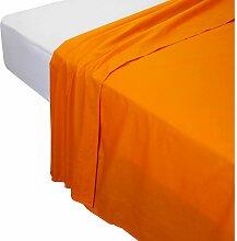Drap de dessus, 100% coton. 220x270cm , Orange .