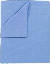 Drap de dessus, 100% coton couleur Bleu clair.