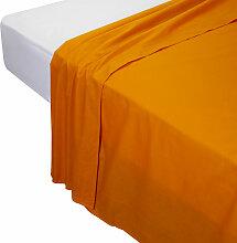 Drap de dessus, 100% coton couleur Orange.