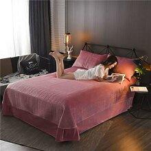 Drap de lit matelassé en velours cristal, couleur