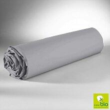 Drap Housse Gris 160x200 C Design Home Textile