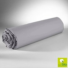 Drap Housse Gris 90x200 C Design Home Textile