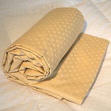 Drap-housse king size jacquard beige, Dimension