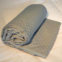 Drap-housse king size jacquard gris clair,