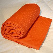 Drap-housse king size jacquard orange, Dimension