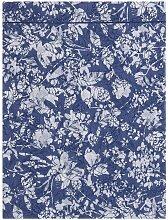 Drap plat Gabrielle percale bleu