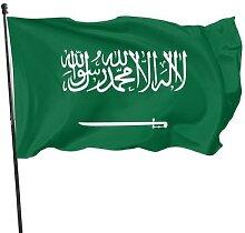 Drapeau de décoration arabie saoudite, 90x150cm