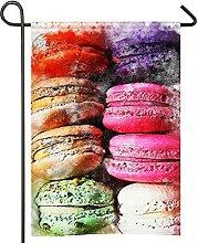 Drapeau de jardin coloré pour pâtisserie,