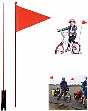 Drapeau De Sécurité De Vélo, Mât De Drapeau De