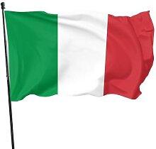 Drapeau italien, vert, blanc, rouge, 90x150cm