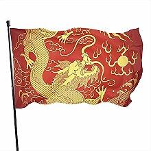 Drapeau rouge chinois durable drapeau fanion